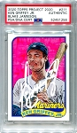 Ken Griffey Jr. Autographed Topps Project 2020 Card #211 Inscribed 24 - White 1/1