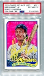 Ken Griffey Jr. Autographed Topps Project 2020 Card #211 Inscribed HOF 16 - Yellow 1/1