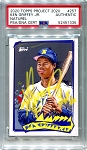 Ken Griffey Jr. Autographed Topps Project 2020 Card #257 Inscribed HOF 16 - Yellow 1/1