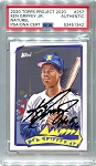Ken Griffey Jr. Autographed Topps Project 2020 Card #257 Inscribed HOF 16 - Black 1/1