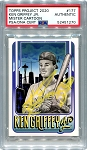 Ken Griffey Jr. Autographed Topps Project 2020 Card #177 Inscribed 24 - Yellow 1/1