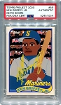Ken Griffey Jr. Autographed Topps Project 2020 Card #88 Inscribed 24 - Yellow 1/1