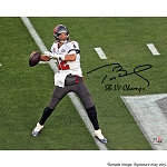 Tom Brady Autographed Tampa Bay Buccaneers SB LV 16x20 Photo Inscribed LV Champs
