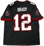 Tom Brady Autographed Tampa Bay Buccaneers Pewter Nike Limited Jersey Inscribed LV Champs