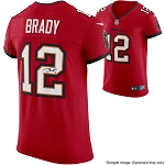 Tom Brady Autographed Tampa Bay Buccaneers Red Nike Elite Jersey