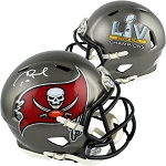 Tom Brady Autographed Tampa Bay Buccaneers SB LV Champs Mini Helmet