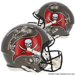 Tom Brady Autographed Tampa Bay Buccaneers Authentic Speed Full Size Helmet Inscribed LV Champs