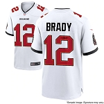 Tom Brady Autographed Tampa Bay Buccaneers White Nike Game Jersey