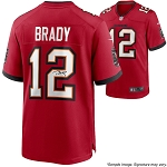 Tom Brady Autographed Tampa Bay Buccaneers Red Nike Game Jersey