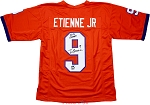 Travis Etienne Autographed Clemson Tigers Custom Jersey Inscribed 18-19 Champs