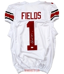 Justin Fields Autographed Ohio State Buckeyes Custom White Jersey