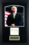 Rush Limbaugh Autographed Cut Signature - Framed with Photo
