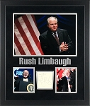 Rush Limbaugh Autographed Cut Signature Inscribed My Best - Framed with Photos