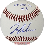 Ian Anderson Autographed MiLB Southern League Baseball Inscribed 1st Rd 1/6 #3