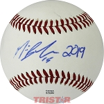 Michael Busch Autographed Official MiLB Southern League Baseball Inscribed 2019