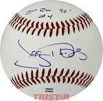 Jeffrey Hammonds Autographed Official MiLB Southern League Baseball Inscribed 1st RD #4