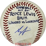 Royce Lewis Autographed Official Minor League Baseball