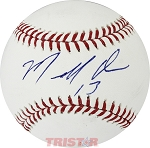 Marcell Ozuna Autographed Official Major League Baseball Inscribed 13