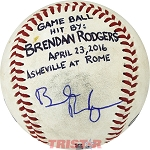 Brendan Rodgers Autographed Official South Atlantic League Baseball