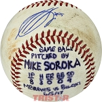 Mike Soroka Autographed Official MiLB Southern League Baseball