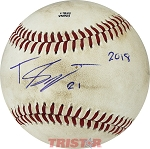 Travis Swaggerty Autographed Official MiLB Southern League Baseball Inscribed 21 2018