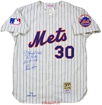 Nolan Ryan Autographed New York Mets Authentic M&N Jersey with Inscriptions