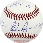 Nolan Ryan Autographed Official ML Baseball Inscribed 324 Wins, 5714 Ks, HOF 99