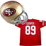 Jimmy Garoppolo Autographed San Francisco 49ers Helmet + Earl Cooper Signed Jersey