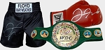 Floyd Mayweather Knockout Package - Autographed Belt, Trunks & Glove