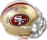 Jimmy Johnson Autographed San Francisco 49ers Mini Helmet inscribed HOF 94