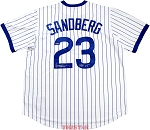 Ryne Sandberg Autographed Chicago Cubs Replica Jersey Inscribed HOF 05