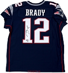 Tom Brady Autographed New England Patriots Nike 'Elite' Blue Authentic Jersey