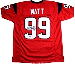 JJ Watt Autographed Houston Texans Custom Red Jersey