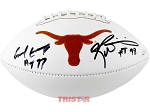 Earl Campbell & Ricky Williams Autographed UT Longhorns Football