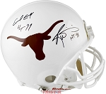 Earl Campbell & Ricky Williams Autographed UT Longhorns Proline Full Size Helmet