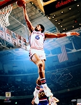 Julius Erving Autographed Philadelphia 76ers 16x20 Photo