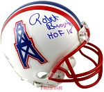 Robert Brazile Autographed Houston Oilers Mini Helmet Inscribed HOF 18