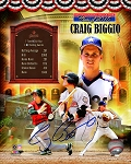 Craig Biggio Autographed Official Hall of Fame 16x20 Photo Collage