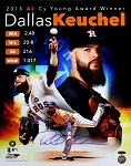 Dallas Keuchel Autographed Houston Astros 2015 Cy Season Stat Collage 16x20 Photo