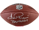 Andre Rison Autographed Wilson Platinum NFL Football Inscribed Bad Moon