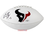 Will Fuller Autographed Houston Texans Logo Football