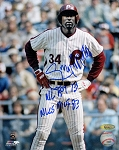 Gary Matthews Sr. Autographed Philadelphia Phillies 8x10 Photo Inscribed 73 NL ROY