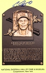 Craig Biggio Autographed Hall of Fame Plaque Postcard