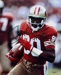 Jerry Rice Autographed San Francisco 49ers Running Closeup 8x10 Photo