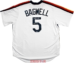 Jeff Bagwell Autographed Houston Astros Throwback Replica Jersey Inscribed HOF 17