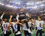 1985 Chicago Bears Autographed Super Bowl XX Champs 16x20 Photo - 23 Signatures