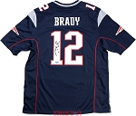 Tom Brady Autographed New England Patriots Nike 'Game' Blue Replica Jersey