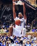Jahlil Okafor Autographed Duke Blue Devils Dunk Close-Up 16x20 Photo