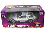 Michael J Fox & Christopher Lloyd Back To The Future 1:24 Diecast Delorean Time Machine