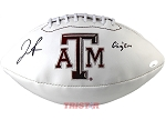 Josh Reynolds Autographed Texas A&M Aggies Logo Football